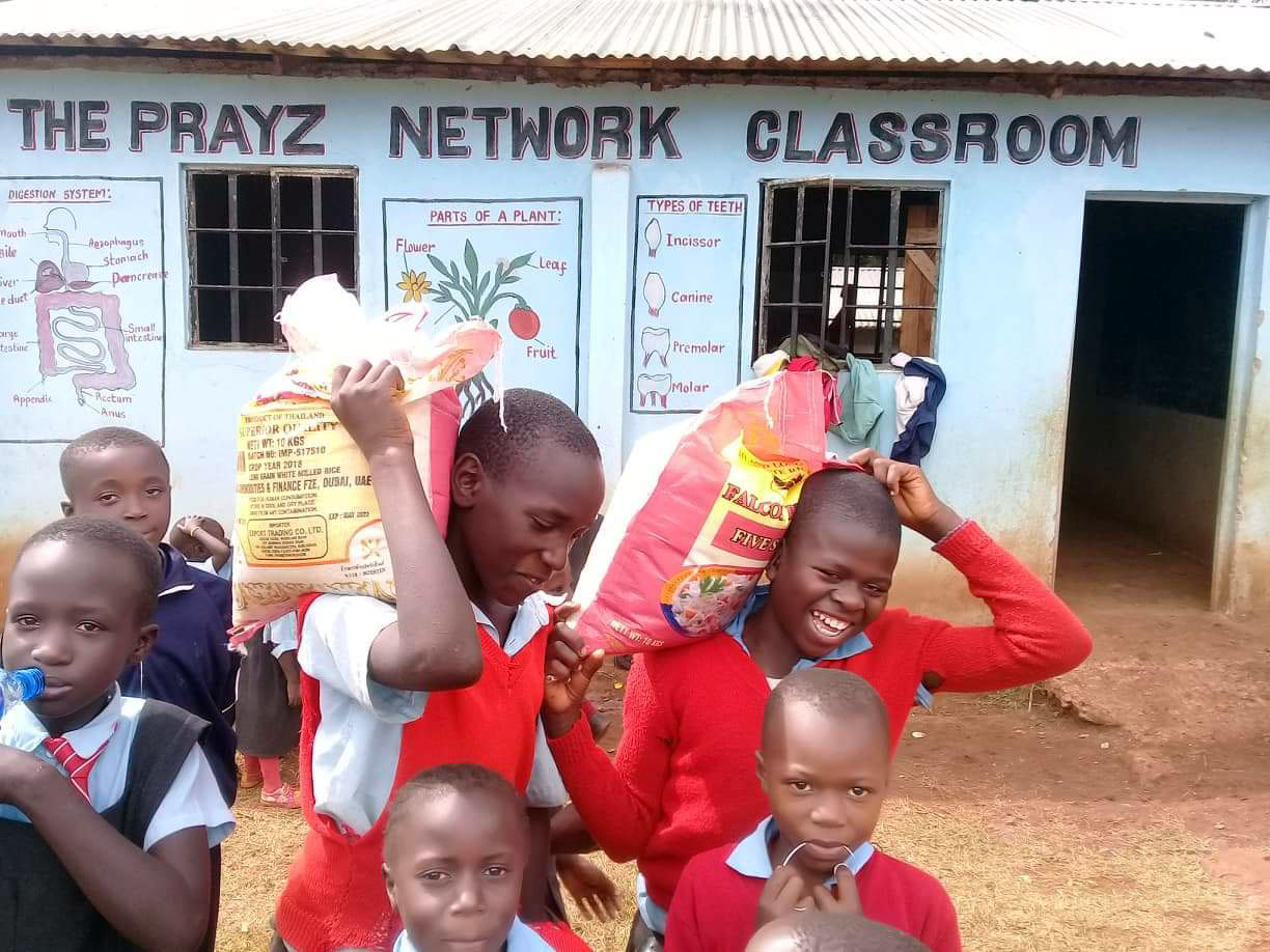 Prayz Network Radio provided funds for painting the classroom in the background